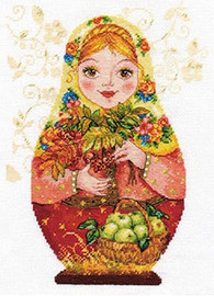 Matreshki - Autumn Beauty Cross Stitch Kit by Alisa