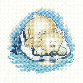 'Paula Bear' Cross Stitch Kit By Heritage