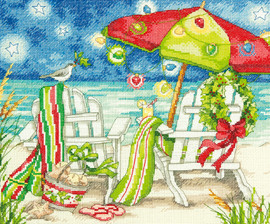 Counted Cross Stitch: Christmas Beach Chairs By Dimensions