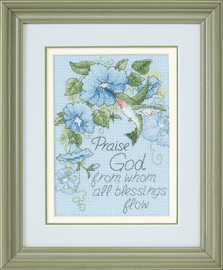 Hummingbird And Morning Glories Cross Stitch Kit