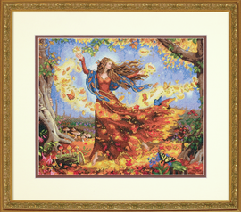 Fall Fairy Cross Stitch Kit