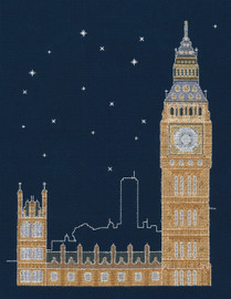 "London By Night ""Glow in the Dark"" Cross Stitch Kit By DMC"