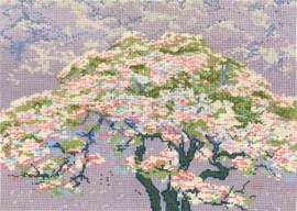 Cherry Blossom Cross Stitch Kit By DMC