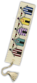 Beach Huts Bookmark Cross Stitch Kit by Textile Heritage