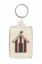 Beach Huts Keyring Cross Stitch Kit by Textile Heritage
