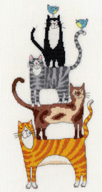 Cat Stack Cross Stitch Kit By Bothy Threads