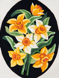 Yellow Daffs Tapestry Canvas By Grafitec