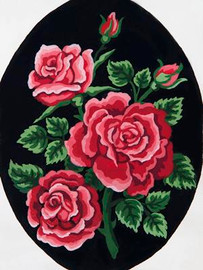 Red Rose Bouquet Tapestry Canvas By Grafitec