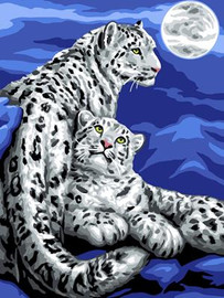 Snow Leopards Tapestry Canvas By Grafitec