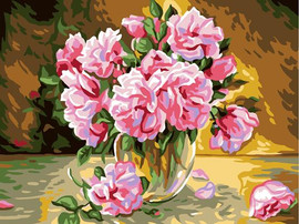 Pink Roses Tapestry Canvas By Grafitec