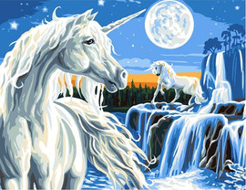 Magical Unicorn Tapestry Canvas By Grafitec