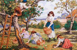 Orchard Days Tapestry Canvas By Grafitec