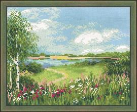 Path to the Lake Cross Stitch Kit By Riolis