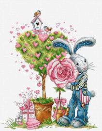 Bunny Boy Cross Stitch Kit By Luca S