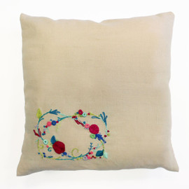 Rose Garland Embroidery Cushion Kit from DMC