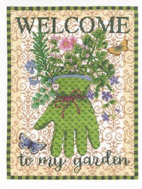 Gardens Glove Cross Stitch Kit By Janlynn