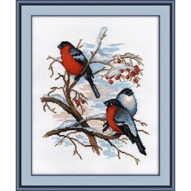 Bullfinches Cross Stitch Kit by Oven