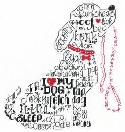 Lets Bark Cross Stitch Chart by Ursula Michael