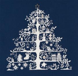 Christmas Tree Blue Cross Stitch Kit By DMC