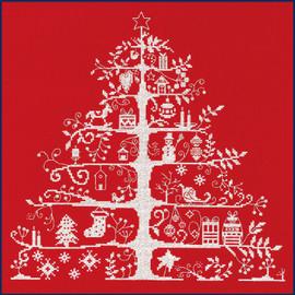 Christmas Tree Red Cross Stitch Kit By DMC