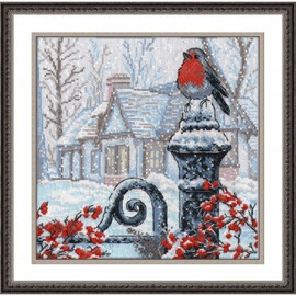 Christmas Morning Cross Stitch by Oven
