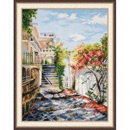 Italian patio Cross Stitch Kit By Oven
