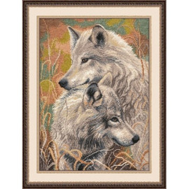 Fidelity of the Wolves Cross Stitch Kit By Oven