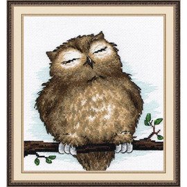 Owl cross stitch Kit by Oven
