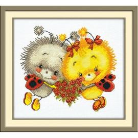 Ladybirds Cross Stitch Kit by Oven