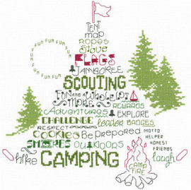 Lets Go Camping Cross Stitch Chart