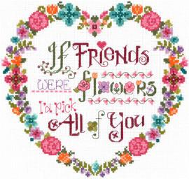 Flower Friends Cross Stitch Chart