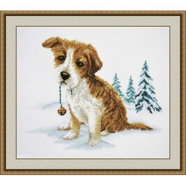 Cute Puppy Cross Stitch Kit by Oven