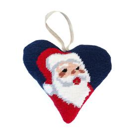Santa Heart Decoration Tapestry Kit By Cleopatra