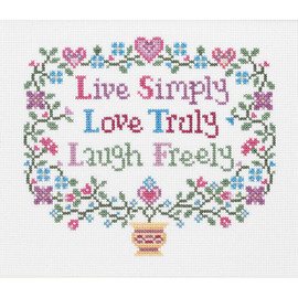 Live, Love, Laugh Counted Cross Stitch Kit By Janlynn