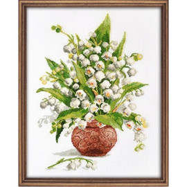 Forest Pearls Cross Stitch Kit by Oven