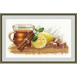 Winter Tea Cross stitch Kit by Oven