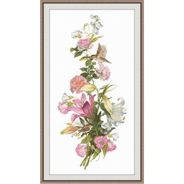 Flower Composition Lillies Cross Stitch Kit by Oven