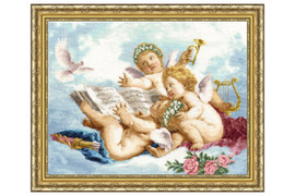 Angels Cross Stitch Kit by Golden Fleece