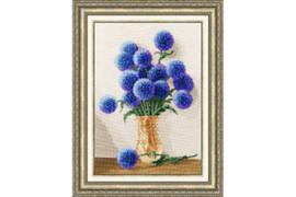 Azure Bouquet Cross Stitch Kit by Golden Fleece