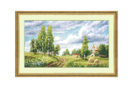 Field Cross Stitch Kit by Golden Fleece