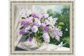 Lilac Spring Cross Stitch Kit by Golden Fleece