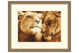 Lions in Love Cross Stitch Kit by Golden Fleece