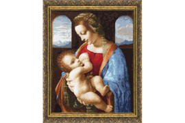 Madonna Litta Cross Stitch Kit by Golden Fleece