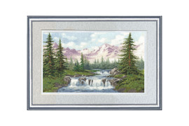 Mountain Landscape Cross Stitch Kit by Golden Fleece