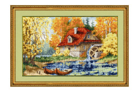 Old Windmill Cross Stitch Kit by Golden Fleece