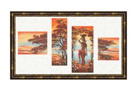 Orange River Cross Stitch Kit by Golden Fleece