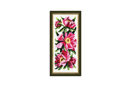 Peonies Cross Stitch Kit by Golden Fleece