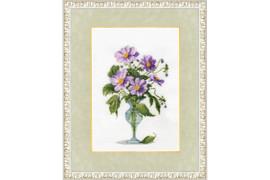 Purple bouquet Cross Stitch Kit by Golden Fleece