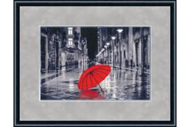 Red umbrella Cross Stitch Kit by Golden Fleece