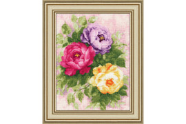 Silk Peonies Cross Stitch Kit by Golden Fleece